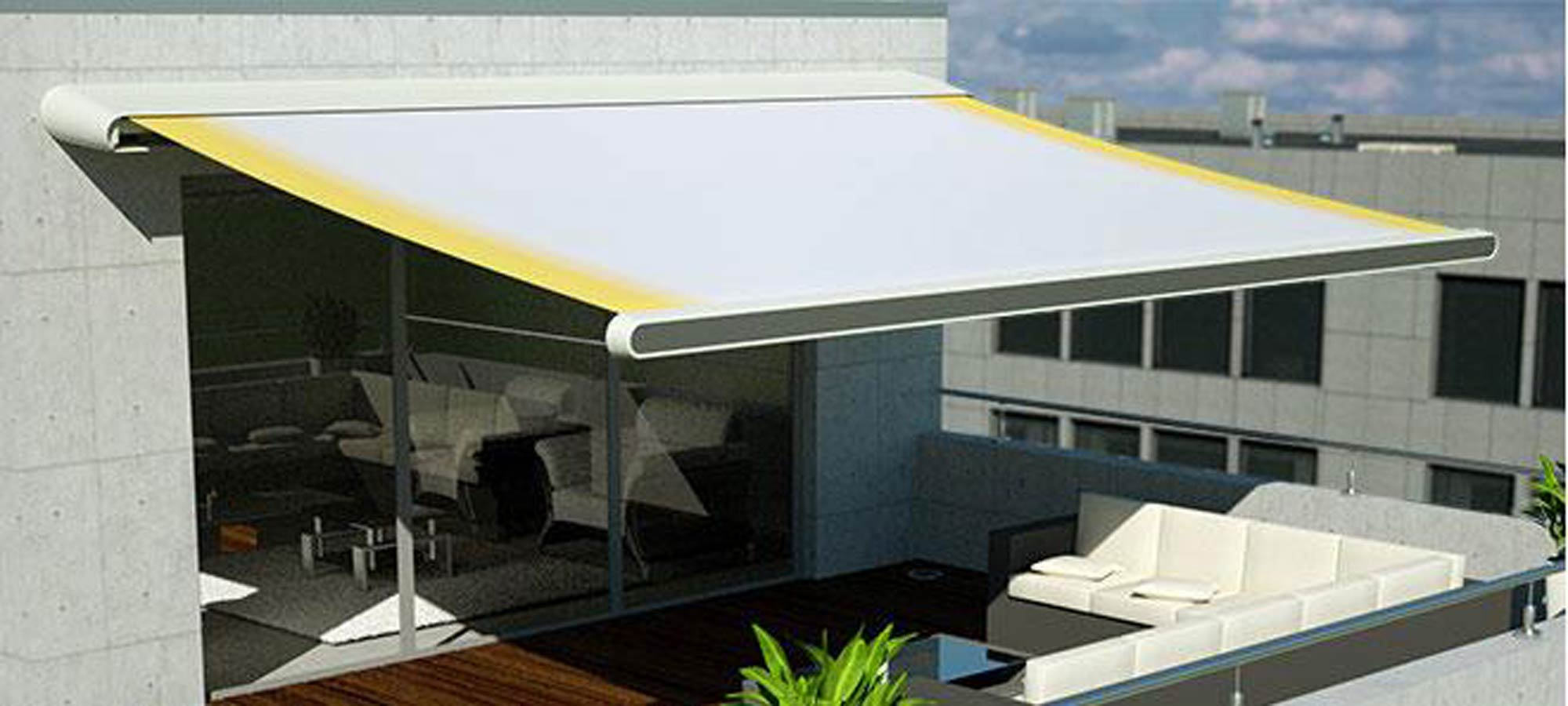 Tenda con cassonetto design